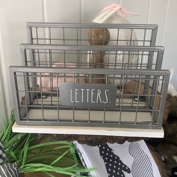 Rae Dunn Grey White Washed Letter array